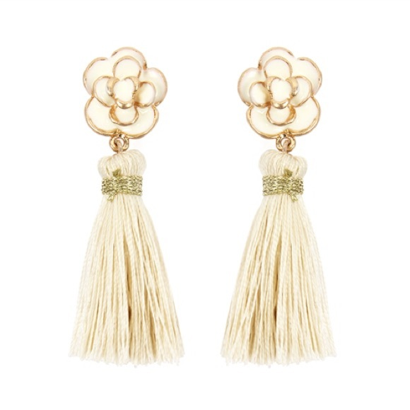 1d703413f Jewelry | Ivory Tassel Earrings | Poshmark
